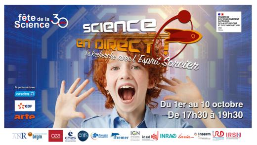 Nos chercheurs participent à la Fête de la Science 2021 !