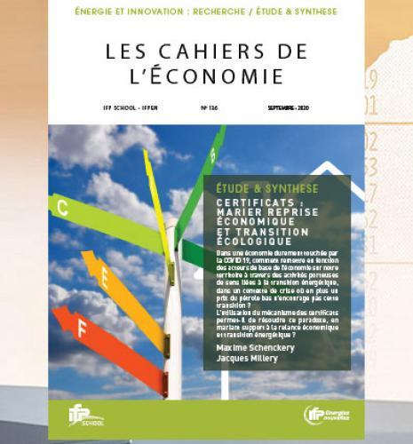 """Les Cahiers de l'Économie n°136 - """"Certificats : marier reprise économique et transition écologique"""""""