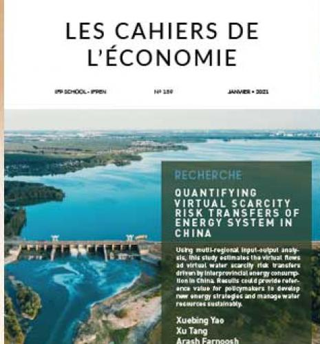 "Les Cahiers de l'économie n°139 - ""Quantifying virtual water scarcity risk transfers of energy system in China"""
