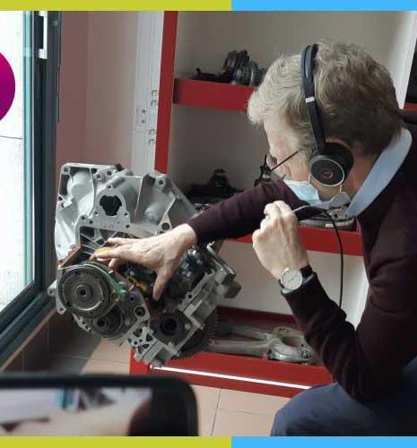 Réalité virtuelle dans la salle moteurs d'IFP School