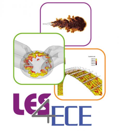 LES4ECE : La Simulation aux grandes échelles pour les moteurs électriques, hybrides ou thermiques