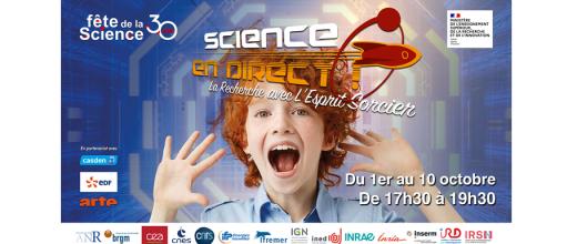 Fête de la Science 2021 - Retrouvez nos chercheurs en replay !