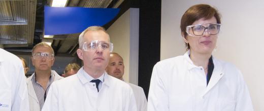 Visite à IFPEN-Lyon de François de Rugy, Ministre de la Transition écologique et solidaire