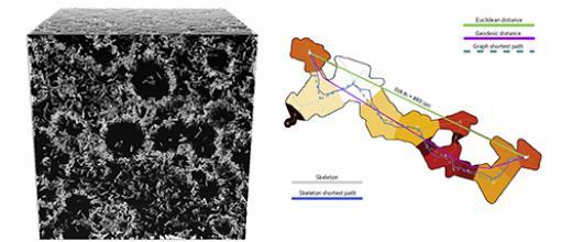 Conception numérique axée sur l'analyse de microstructures multi-échelles de matériaux poreux