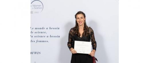 Céline Pagis, doctorante IFPEN/IRCELYON, reçoit la Bourse L'Oréal-Unesco « Pour les Femmes et la Science »